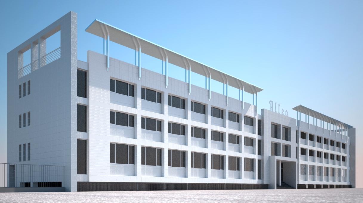 Ristrutturazione capannone e palazzina uffici per la nuova for Piani di capannone per uffici esterni